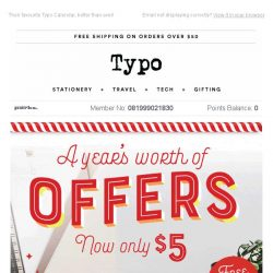 [typo] What to get that person who has everything, online exclusive price $5..