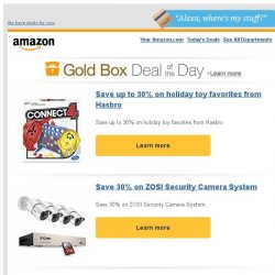 [Amazon] Save up to 30% on holiday toy favorites from...