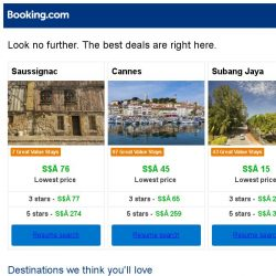 [Booking.com] Saussignac, Cannes, or Subang Jaya? Get great deals, wherever you want to go