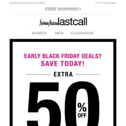 [Last Call] Oooooh! Extra 50% off sweaters, coats, & cold-weather gear