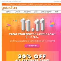 [Guardian] ⚡ Avoid the rush, 11.11 sale starts NOW!