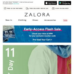 [Zalora] Get ready for 11.11 Singles' Day: Everything Below S$24.90