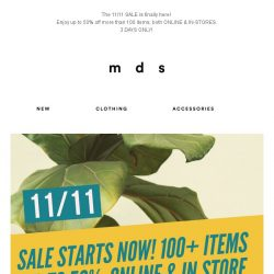 [MDS] The 11/11 SALE is here! Up to 50% OFF😍