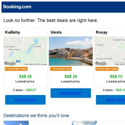 [Booking.com] Kačlehy, Vieste, or Rosay? Get great deals, wherever you want to go