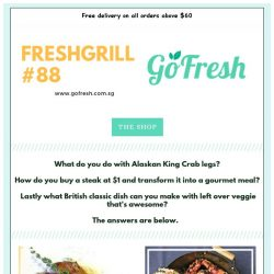 [GoFresh] GoFresh: Freshgrill #88 - How do you buy a $1 steak and transform it into a gourmet meal?