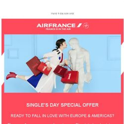 [AIRFRANCE] Single's Day Deals, open now!