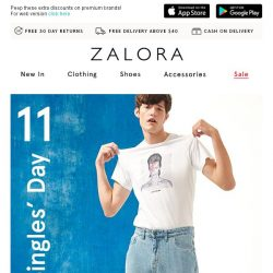 [Zalora] 11:11 Singles' Day SALE: Everything Up to 60% Off!