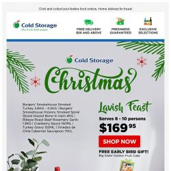 [Cold Storage] 🎄 Order Lavish Christmas Feasts Now + FREE Early Bird Gift! 🎄