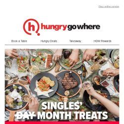 [HungryGoWhere] 1 Month Long Singles' Day Celebration with $11 nett items, 1-for-1 Deals, and more