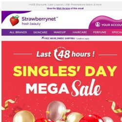 [StrawberryNet] , Last 48 HRS to Shop our Singles' Day MEGA SALE