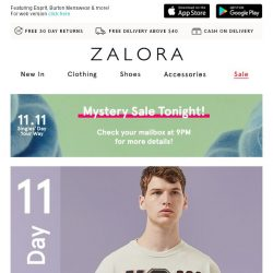 [Zalora] Ends Tonight: EXTRA 30% Off Top Brands