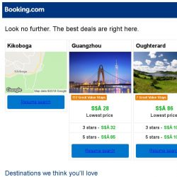 [Booking.com] Kikoboga, Guangzhou, or Oughterard? Get great deals, wherever you want to go