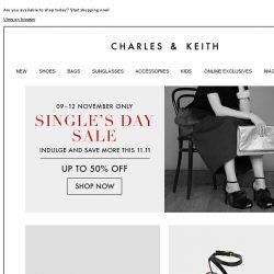 [Charles & Keith] 11 hottest pieces to snag this Single's Day!