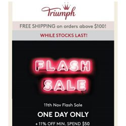 [Triumph] 11/11 Sale Up to 50% Off Starts Now!