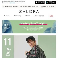 [Zalora] 😎 11.11 Singles' Day Treat: Everything up to 70% Off!