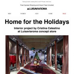 [LUISAVIAROMA] Get into the spirit with Home for the Holidays