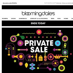 [Bloomingdales] Take $25 off every $100 you spend--ends today!