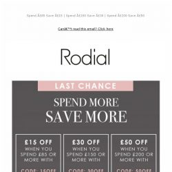 [RODIAL] Final Call: Save Up To £50