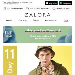 [Zalora] 🎈 11.11 SALE Extended: 25% Off Tops & Bottoms On Us!