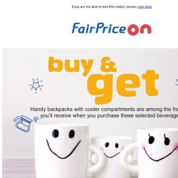 [Fairprice] Free Gifts & Fantastic Drinks! 🍹