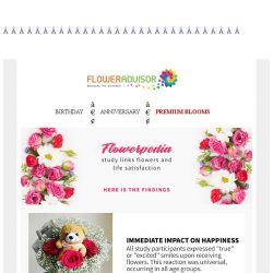 [Floweradvisor] FLOWERPEDIA: Research findings on flowers and feelings. Find out now!