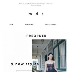 [MDS] You heard it first | NEW-IN
