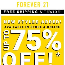 [FOREVER 21] HURRY UP!!! New Styles Added Up to 75% Off