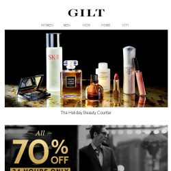 [Gilt] The Holiday Beauty Counter | 70% Off Hickey Freeman for 24 Hours