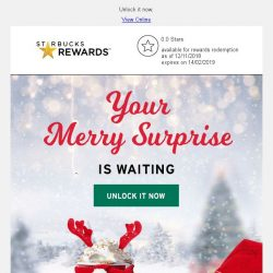 [Starbucks]  A merry surprise is waiting...