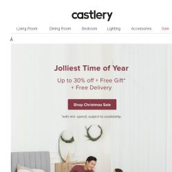 [Castlery] Our Christmas Bonanza's here!