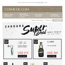 [COSME-DE.com] Black Friday Pre-Sale! Beauty hero products on pre-sale for limited time!