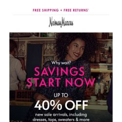 [Neiman Marcus] 40% off: Holiday-ready dresses & more added to sale