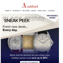 [Ashford] Shop ahead of the rush with Sneak Peek savings