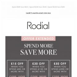 [RODIAL] Save Up To £50: Now Extended 💕