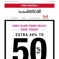 [Last Call] Extra 40%–50% off entire site