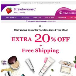 [StrawberryNet] , 😀 Your Extra 20% Off Discount Code is Inside!