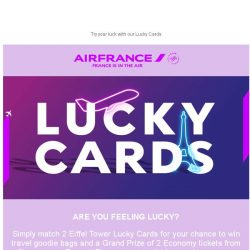 [AIRFRANCE] Feeling lucky? Take a chance to win with our Lucky cards!