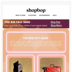 [Shopbop] Luxe gifts for everyone on your list (including you!)
