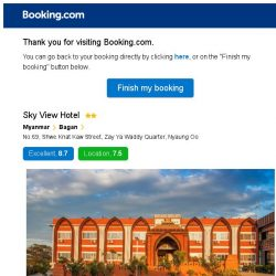 [Booking.com] Sky View Hotel – are you still interested in staying?