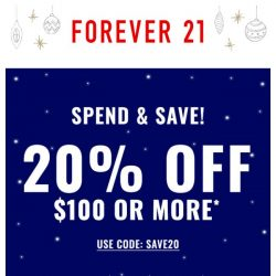 [FOREVER 21] TGIF! Celebrate with 20% off