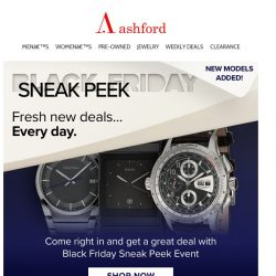 [Ashford] Black Friday Sneak Peek Event – Buy More Save More!