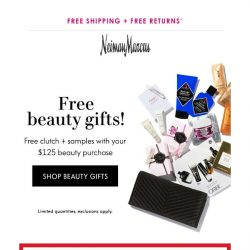 [Neiman Marcus] Time is running out: Free clutch + beauty samples