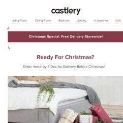 [Castlery] On Sale, In Time for Christmas!