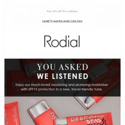 [RODIAL] As Requested: The Dragon's Blood Moisturiser Refresh