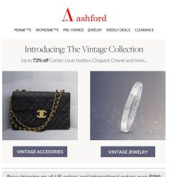 [Ashford] New arrivals from: Cartier • Chanel • LV • and more...