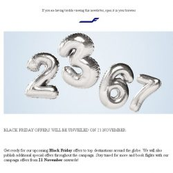 [Finnair] Black Friday offers are soon here