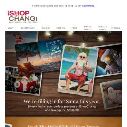 [iShopChangi] We're filling in for Santa this year! 