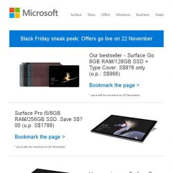 [Microsoft Store] 11.11 is over. Get ready for Black Friday