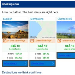 [Booking.com] Kuantan, Membalong, or Cherepovets? Get great deals, wherever you want to go