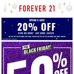 [FOREVER 21] DAY 2: 50% OFF PARTY LOOKS. 24HRS ONLY!